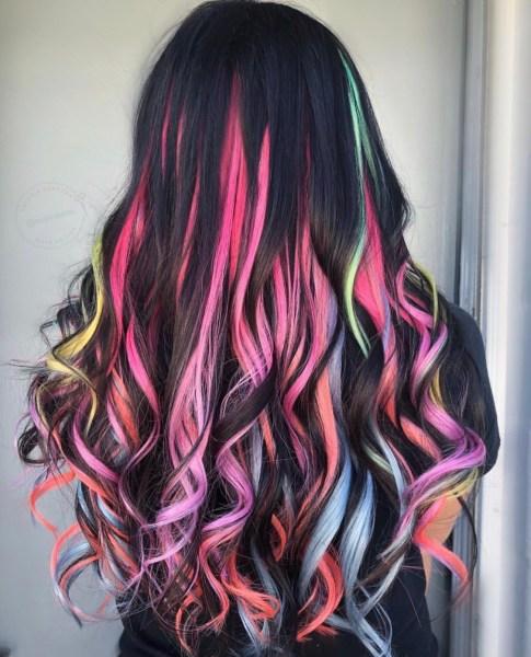 fashion hair color - vivid colors