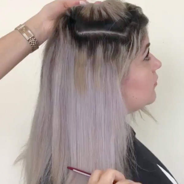 platinum silver color correction root touch up roxybeautytouch truss