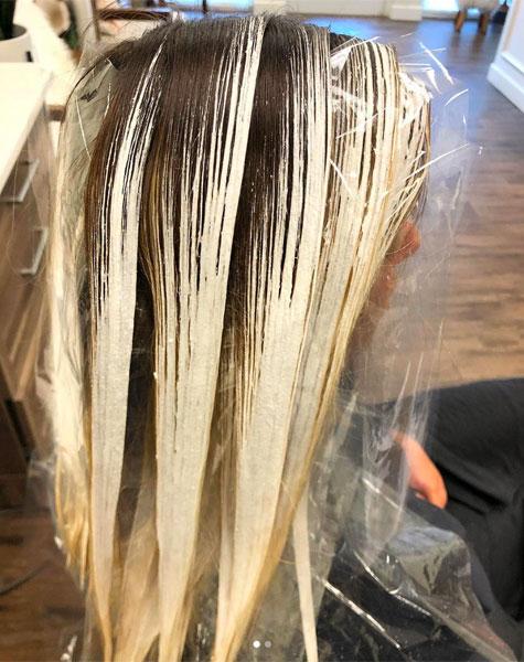 Bright Blonde Balayage Technique