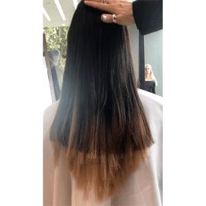 before, hair extensions, haircut