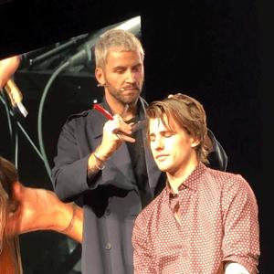oribe, event, haircut, razor-cut, Gardner Edmunds, demonstration