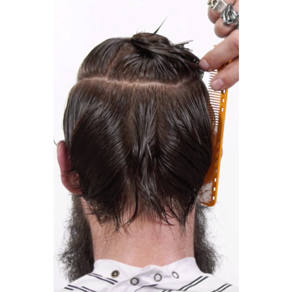 men's haircut, razor-cut, barber