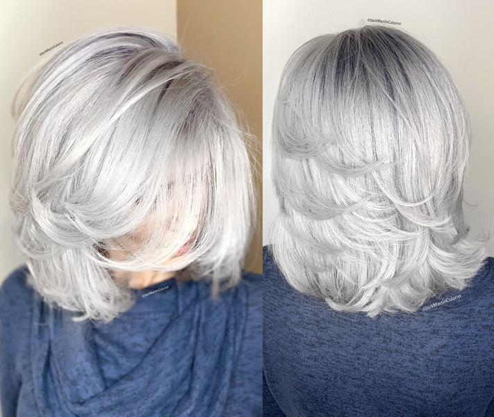 Jack Martin @jackmartincolorist Box Dye Color Correction Transformation Gray Silver How To Color Formulas After