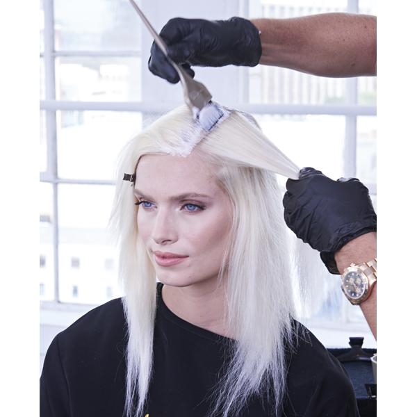 Joico Denis de Souza @denisdesouza Platinum Pearl How To Blonde Blonding Icy White Color Formula Roots