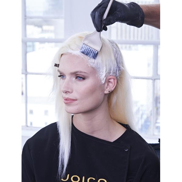Joico Denis de Souza @denisdesouza Platinum Pearl How To Blonde Blonding Icy White Color Formula Foils Roots Hairline