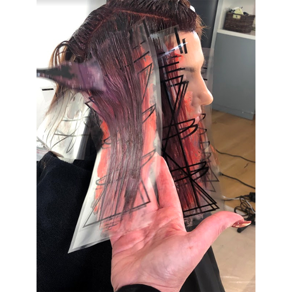 revlon professional ribbon technique how-to step by step process haircolor