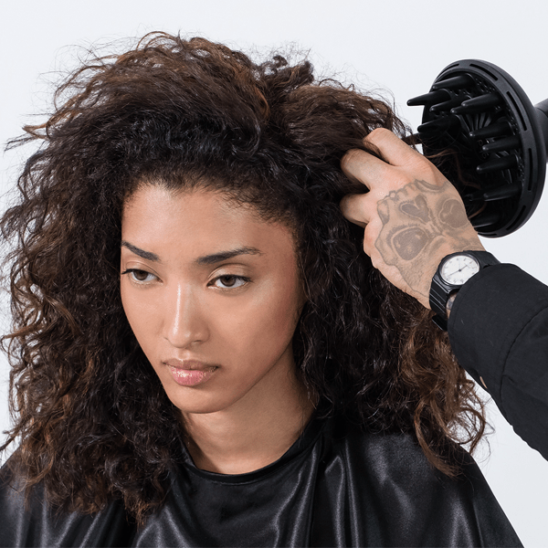 Wella Professionals How To Permanent Color Curly Hair Amber Rich Brunette Diffuser