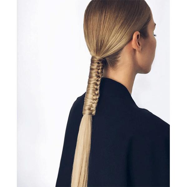 braids, blonde hair, ponytail