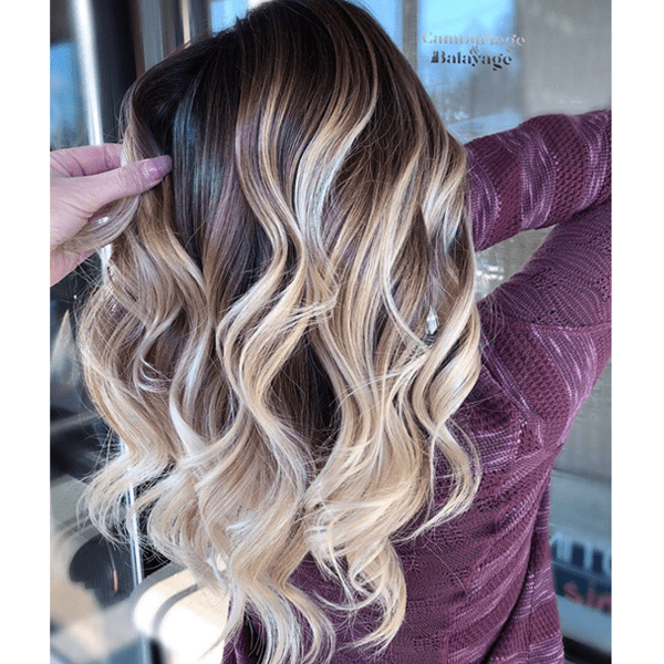 @camouflageandbalayage wet balayage gray coverage root dimensional color formulas application steps color how to