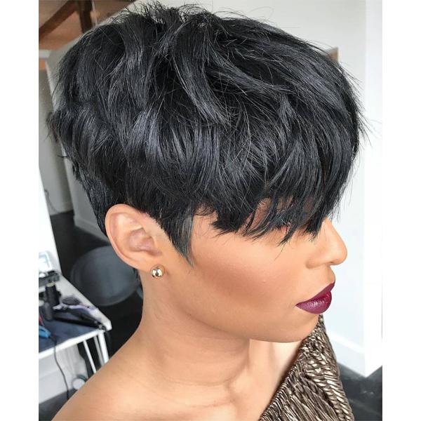 pixie cut on natural black hair Pekela Riley pekelariley