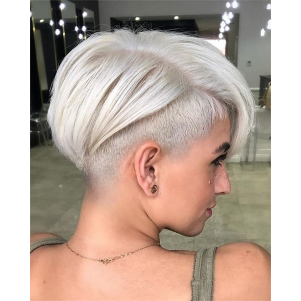 edgy pixie cut with undercut