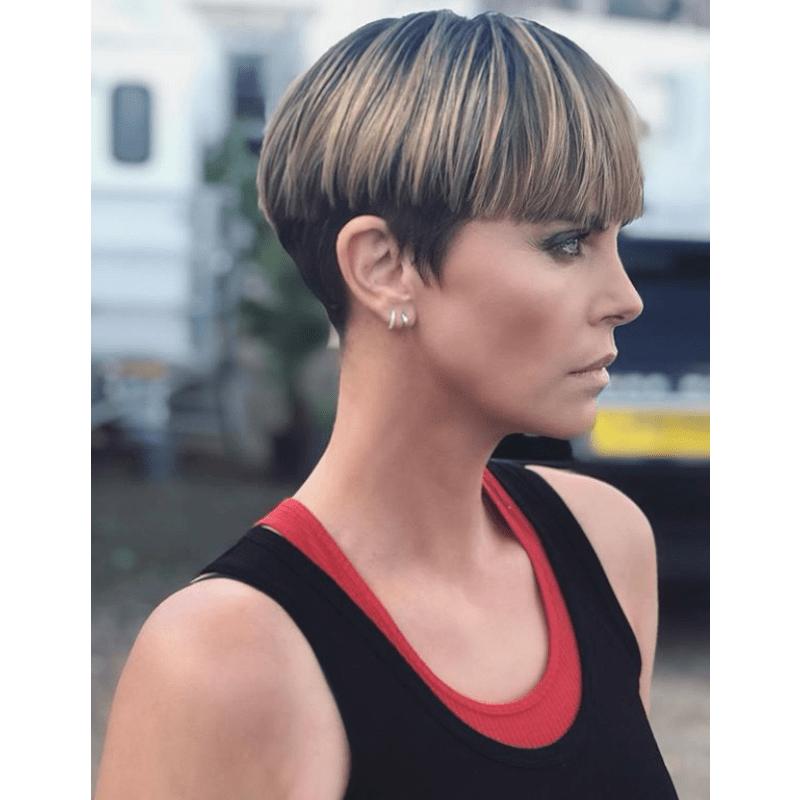 Adir Abergel Short Hair Trend Peter Lindbergh Linda Evangelista Charlize Theron Bowl Cut