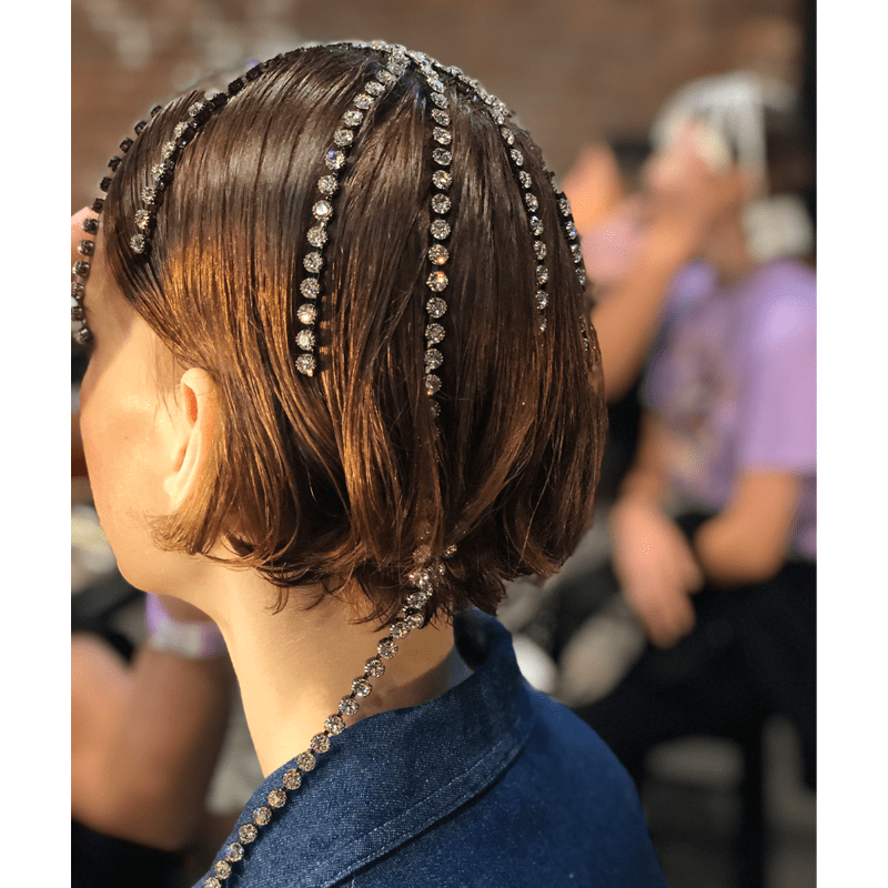 New York Fashion Week Hair Model Trend Hair Accessories Clips Pearls Embellishments Flowers