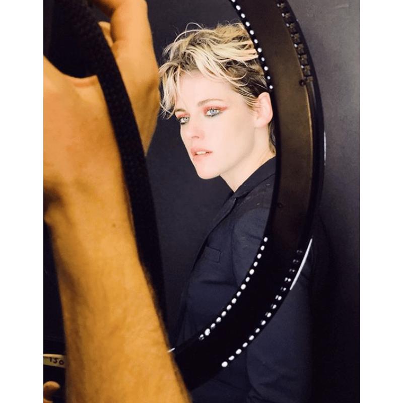 Kristen Stewart Blonde Rooty Short Hair 80s Mullet Haircut Adir Abergel @hairbyadir