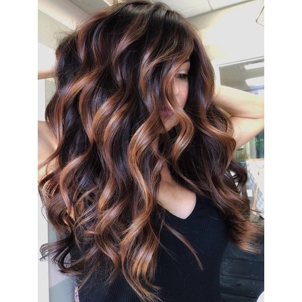 Tabetha Carns @tabetha_and_co Hair Color Formula How To Steps Dimensional Caramel Ribbons On A Level 4 Base Fall Inspo Highlights Balayage