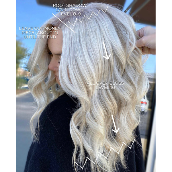 Blondes Root Shadow and Toning Color Formulas How To Formulate Schwarzkopf Professional true beautiful honest permanent hair color Tips @hairbychrissydanielle