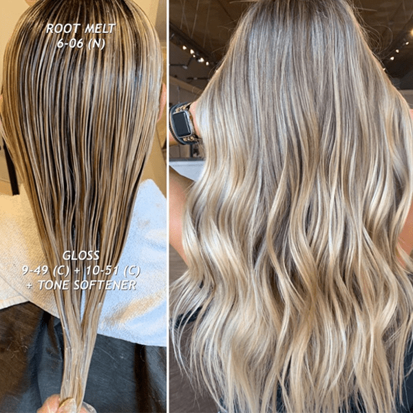 Blondes Root Shadow and Toning Color Formulas How To Formulate @samanthasbeautyconfessions Schwarzkopf Professional true beautiful honest permanent hair color Tips