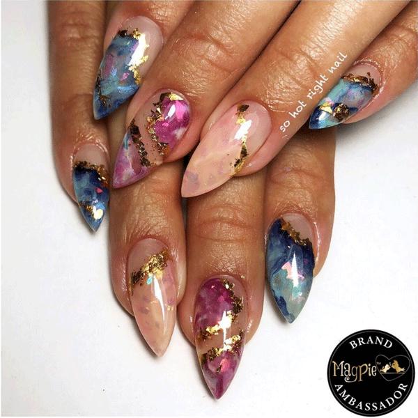 crystal nail art @sohotrightnail