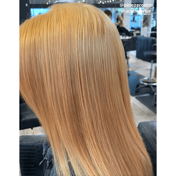 Ariel Winter Dyed Her Hair Red Transformation Black To Strawberry Blonde How To and Color Formula Tabitha Duenas 901 Salon