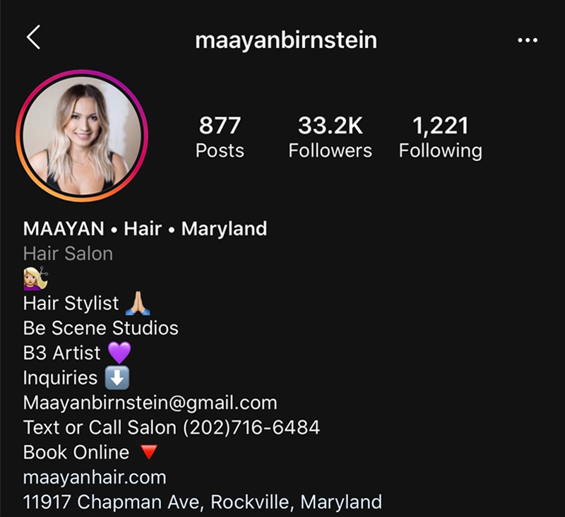 What To Include In Your Hairdresser or Salon Instagram Bio