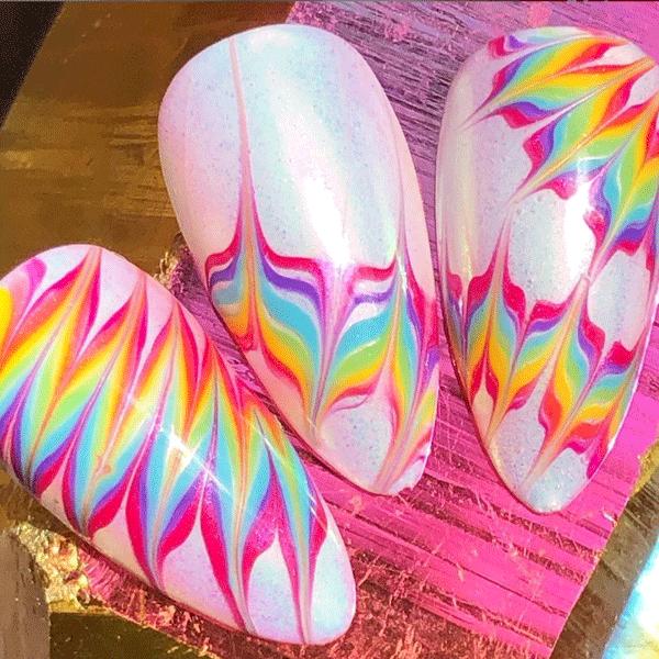 thepolishedpinky-cnd-tie-dye-nails
