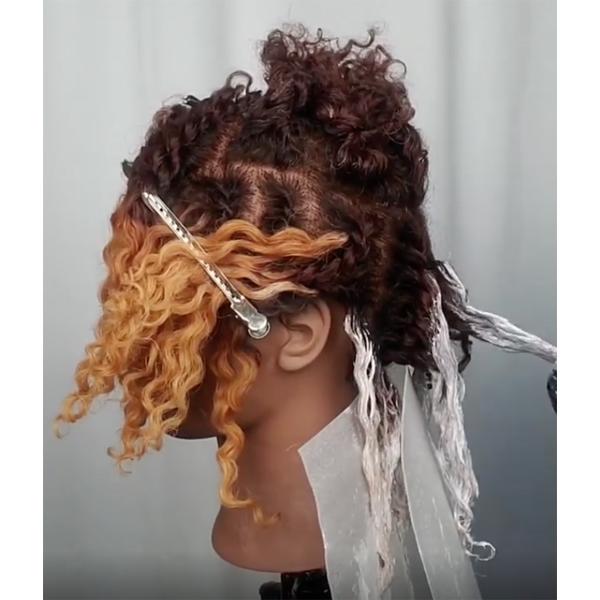 Kauilani Goodwyn @kauigoodwyn Twisted Balayage Technique Curly Textured Hair Natural Detangle Two Strand Twist Lighten