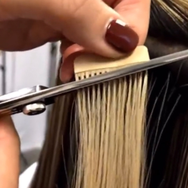 Flaunt Tape In Extensions Facebook Live Chemical Free Balayage Paul MItchell Heather Kaanoi