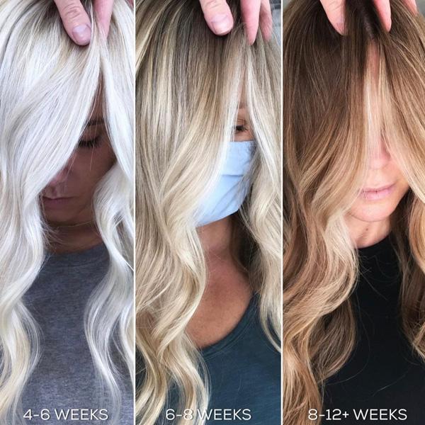 blonde color maintenance platinum highlights balayage tips to make tones last longer