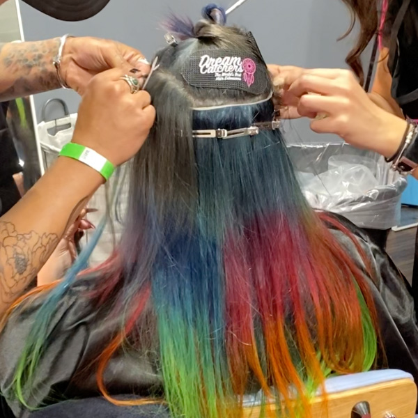 hybrid hair extensions installation tips wefts k-tips dreamcatchers common mistakes and solutions