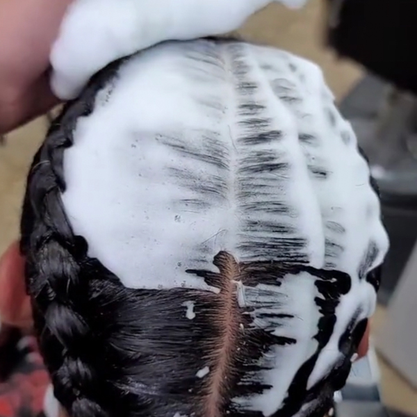 how to braid hair without hairs sticking poking out keeping tension and keeping braids tight @queenofthesouth512 pati plymire ask a btc expert