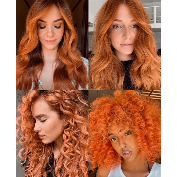 2021 biggest hair color trends summer blondes dip dye colorful y2k streaks bronze balayage
