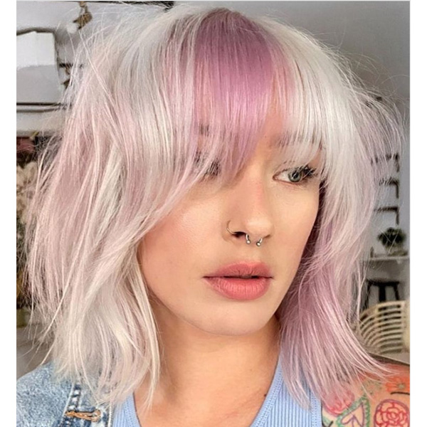 fall 2021 hair color trends color block