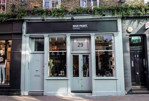 war paint first ever men's makeup store uk london wellness mental health barbers