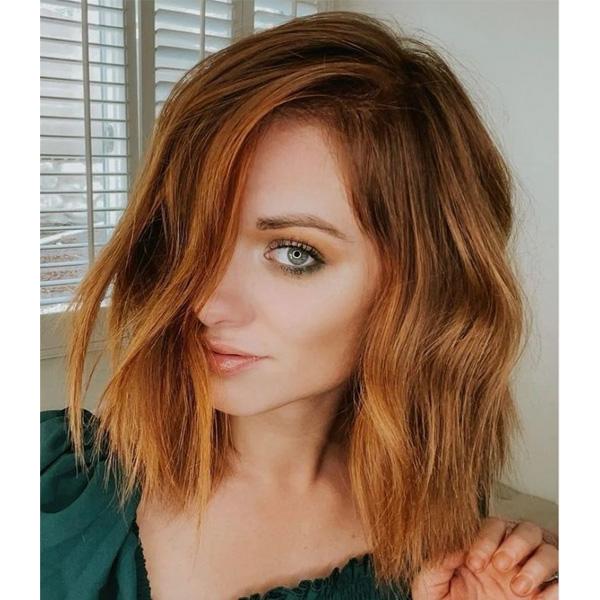fall 2021 hair color trends golden warm balayage copper PUMPKIN ORANGE SPICE