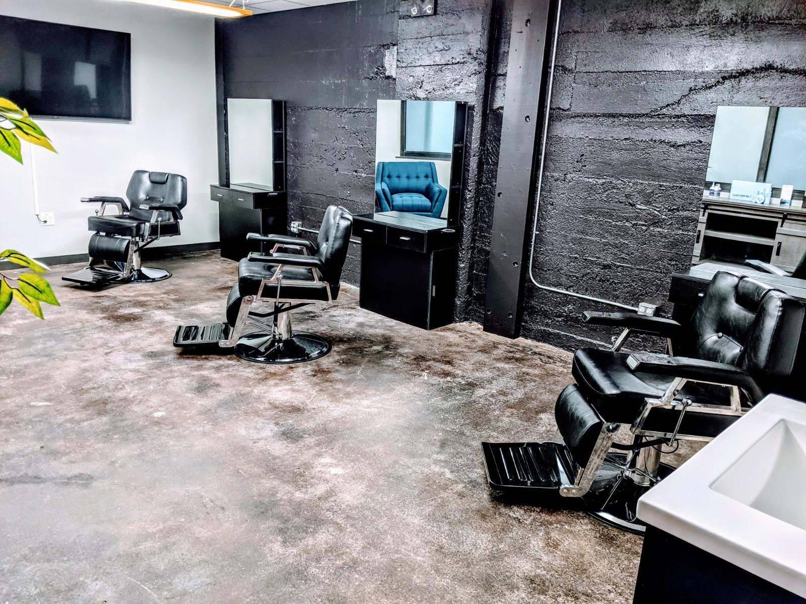 Barbershop, Super single salon suites, And salon booths available!