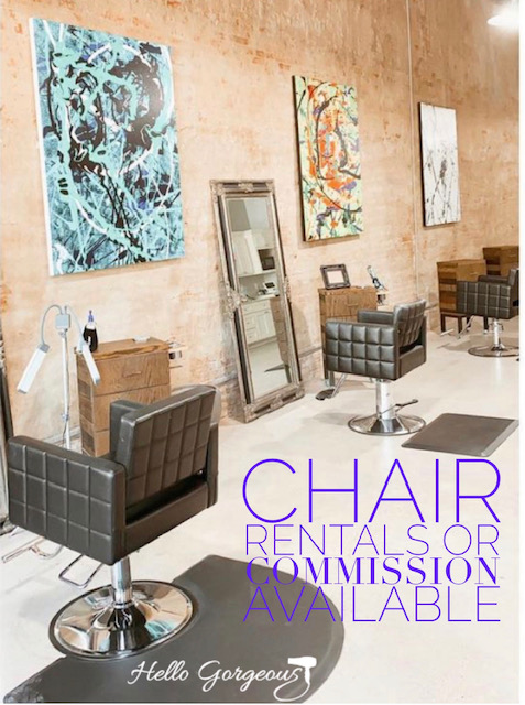 Hiring Licensed Cosmetologist to Rent a Chair or Private Rooms are available for massage therapists, estheticians, wax specialists, lash techs, etc