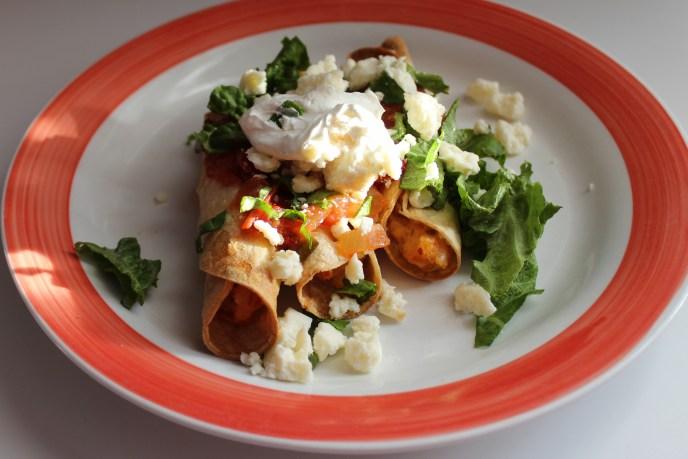 salsa chicken potato taquitos