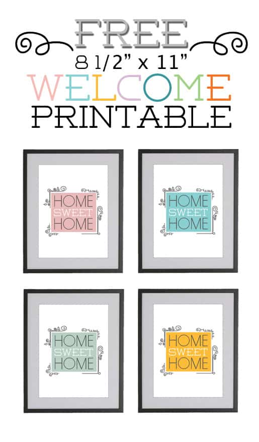 picture about Home Sweet Home Printable identified as Property Cute Residence - A No cost entryway printable - Guiding The Studio