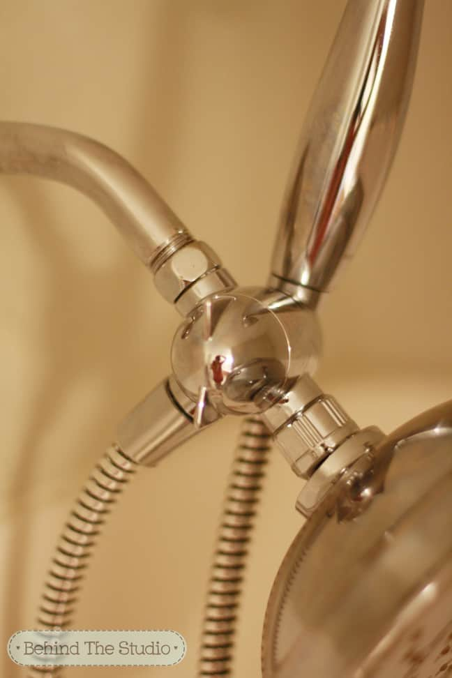How to clean hard water buildup off the showerhead - Behind The Studio