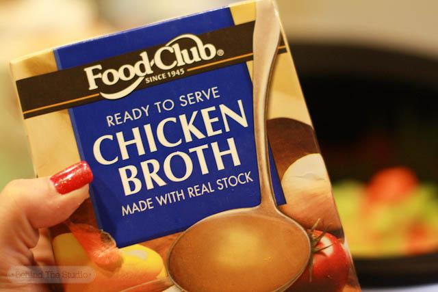 Crockpot chicken noodle soup |http://www.behindthestudio.com|