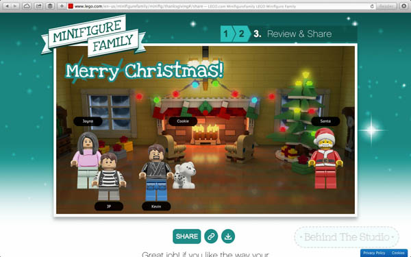 Build your own lego Christmas card - #MinifigureFamily #CG #ad