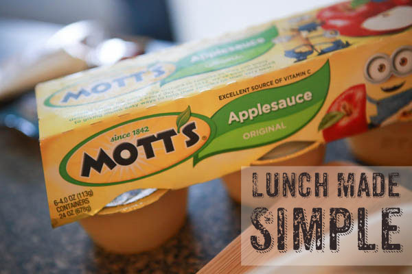 Back to school lunches with Motts - #BTSwithMotts #AD