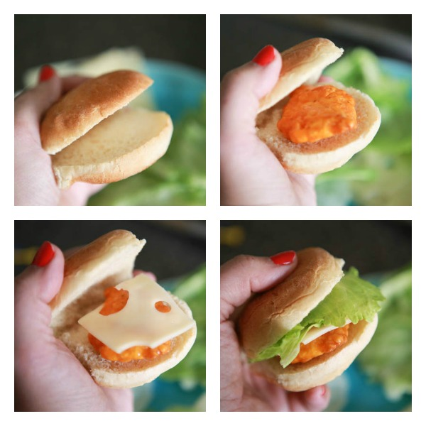 Farm Rich buffalo chicken & swiss sliders sliders hack #BackYourSnack #AD