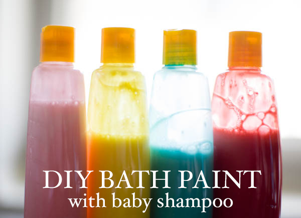 Bath paint DIY with baby shampoo #CareToRecycle #CG