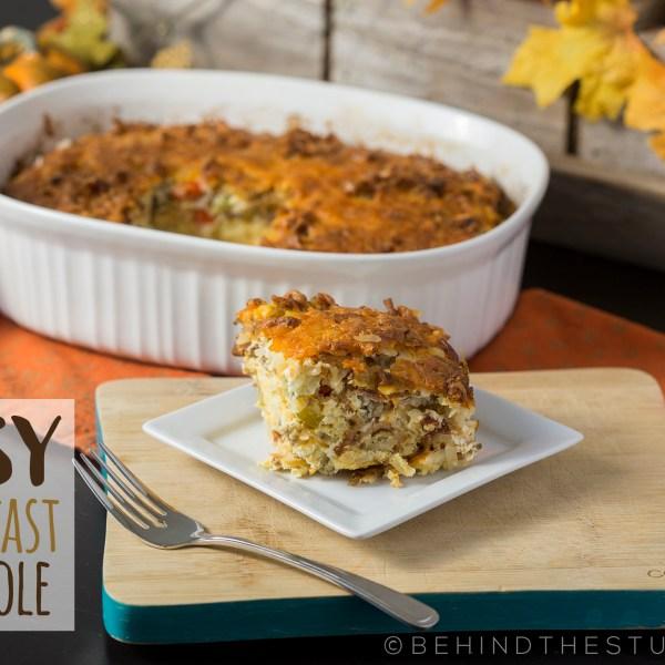 #AD easy breakfast casserole - http://www.behindthestudio.com #MadeWithLove #Kroger