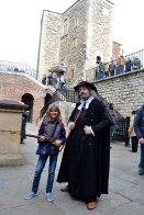 At the Tower of London hearing about the man who tried to steal the crown jewels.
