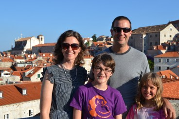 On the city walls of Old Town Dubrovnik