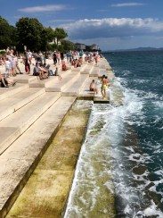 The sea organ, which makes pretty haunting music with the waves