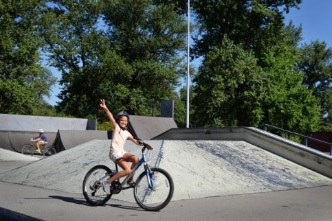 Fun at a skate park