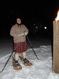 Uncle Jim in his kilt in the snow